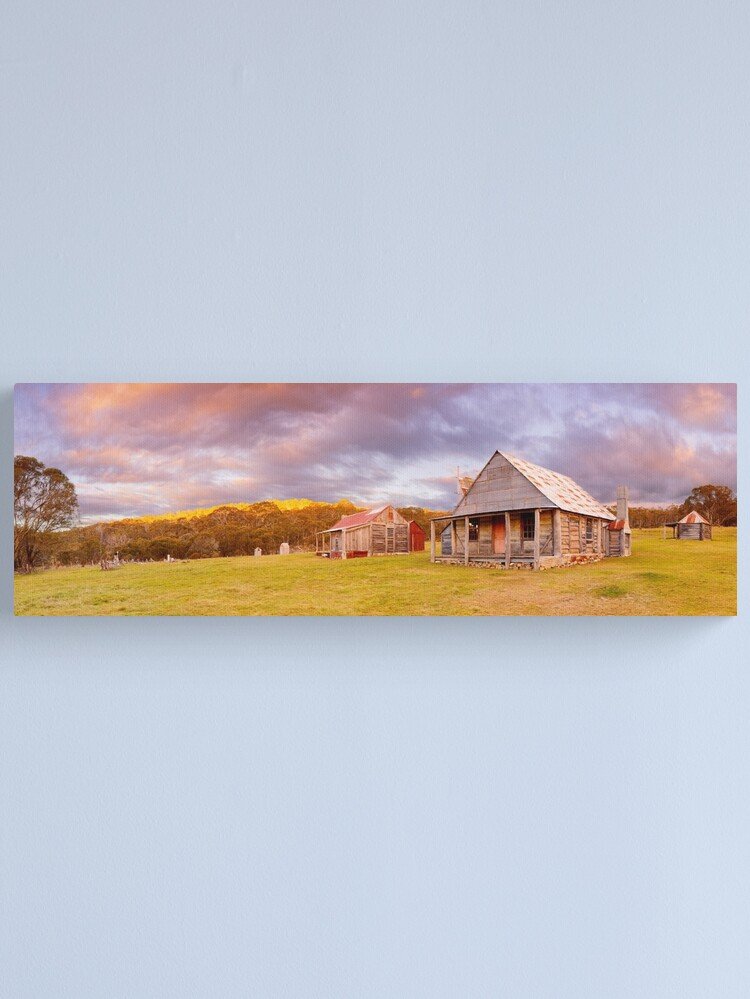 Alternate view of Coolamine Homestead Sunset, Kosciuszko National Park, New South Wales, Australia Canvas Print