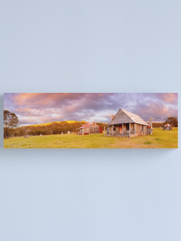 Alternate view of Coolamine Homestead Sunset, Kosciuszko National Park, New South Wales, Australia Canvas Print