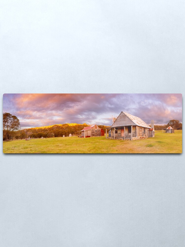 Alternate view of Coolamine Homestead Sunset, Kosciuszko National Park, New South Wales, Australia Metal Print