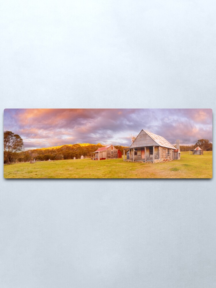 Alternate view of Coolamine Homestead Sunset, Kosciuszko National Park, New South Wales, Australia Metal Print