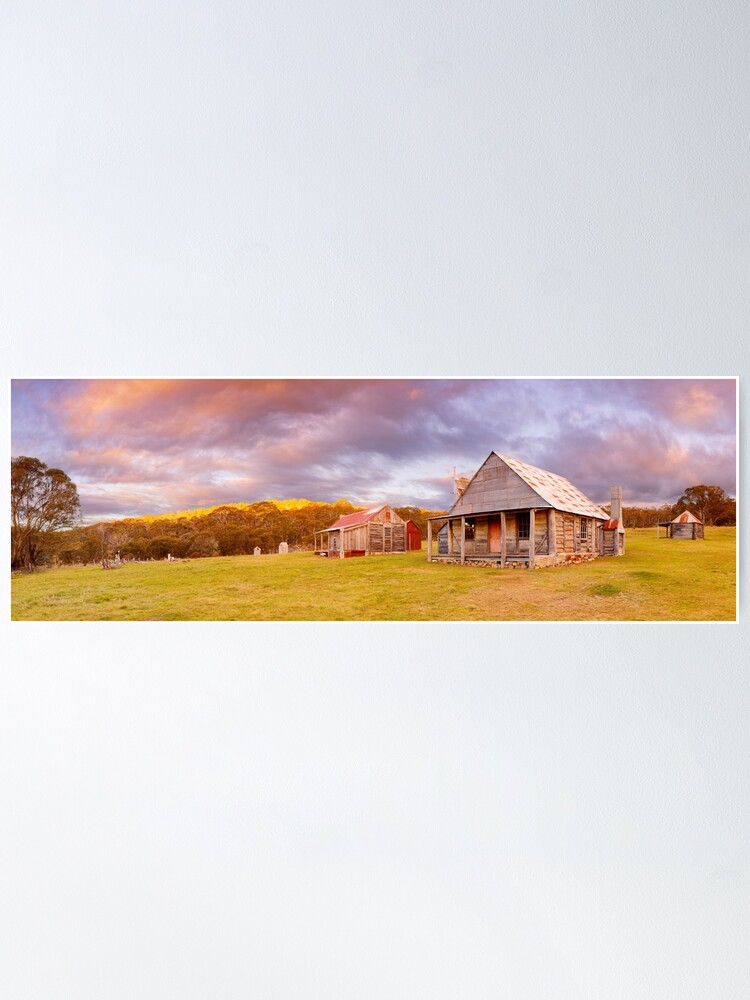 Alternate view of Coolamine Homestead Sunset, Kosciuszko National Park, New South Wales, Australia Poster