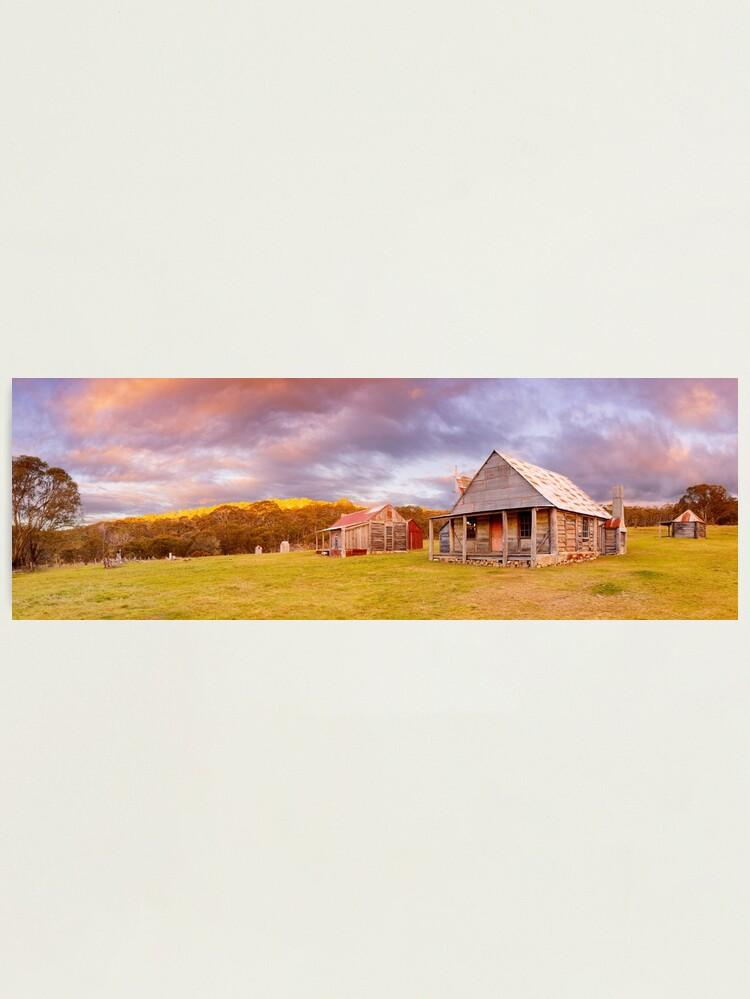 Alternate view of Coolamine Homestead Sunset, Kosciuszko National Park, New South Wales, Australia Photographic Print