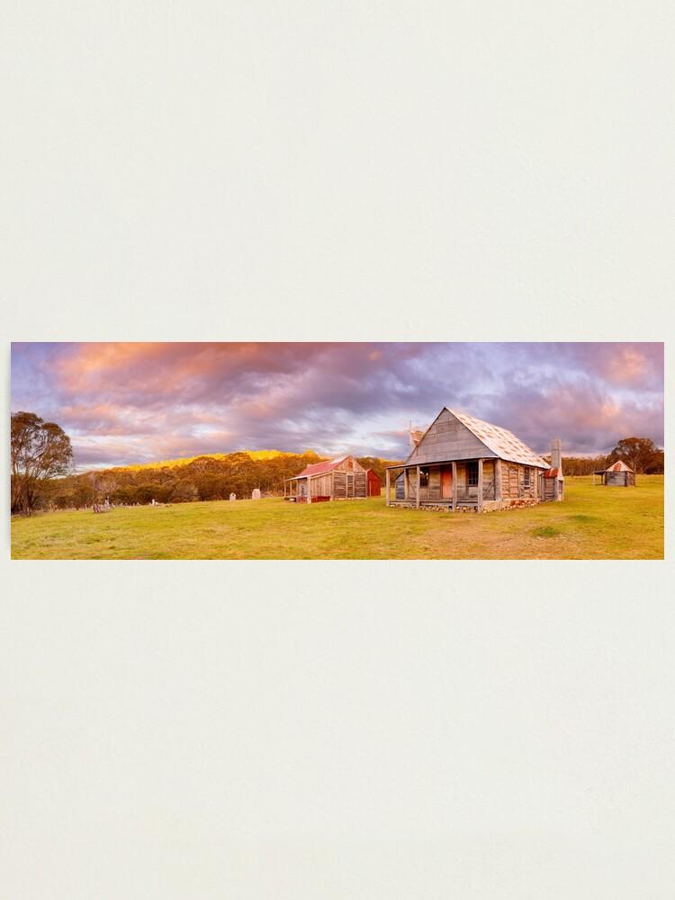 Alternate view of Coolamine Homestead Sunset, Kosciuszko National Park, New South Wales, Australia Photographic Print