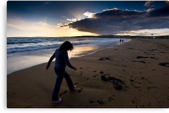 Sunset Walk On Garretstown Beach  by rorycobbe