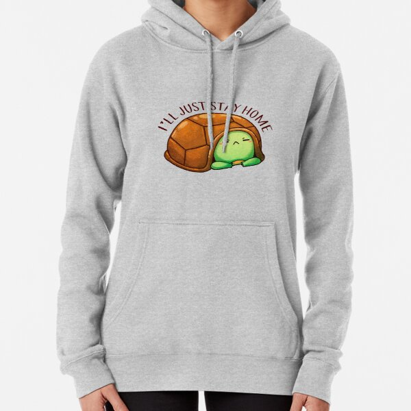 Negative Turtle: I'll just stay home  Pullover Hoodie