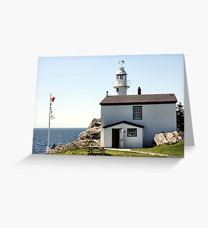 Lobster Cove Head Lighthouse Rocky Harbor Greeting Card