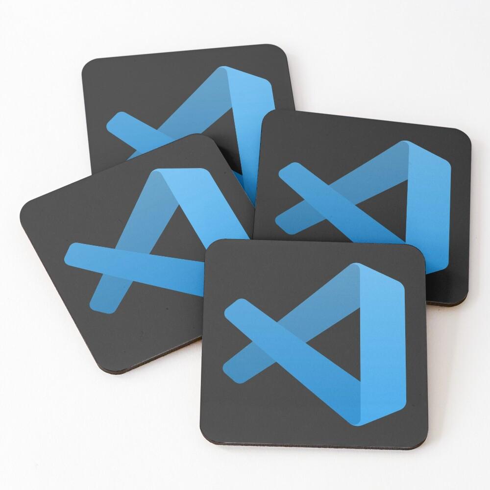 Visual Studio Code Coasters (Set of 4)