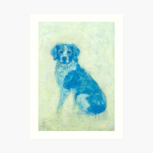 Hector, Spaniel oil dog portrait Art Print