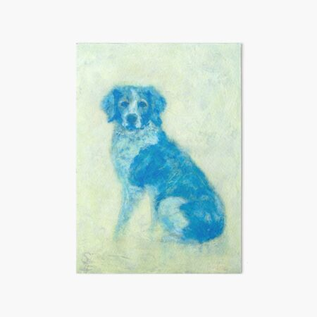 Hector, Spaniel oil dog portrait Art Board Print