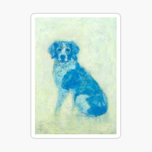 Hector, Spaniel oil dog portrait Sticker