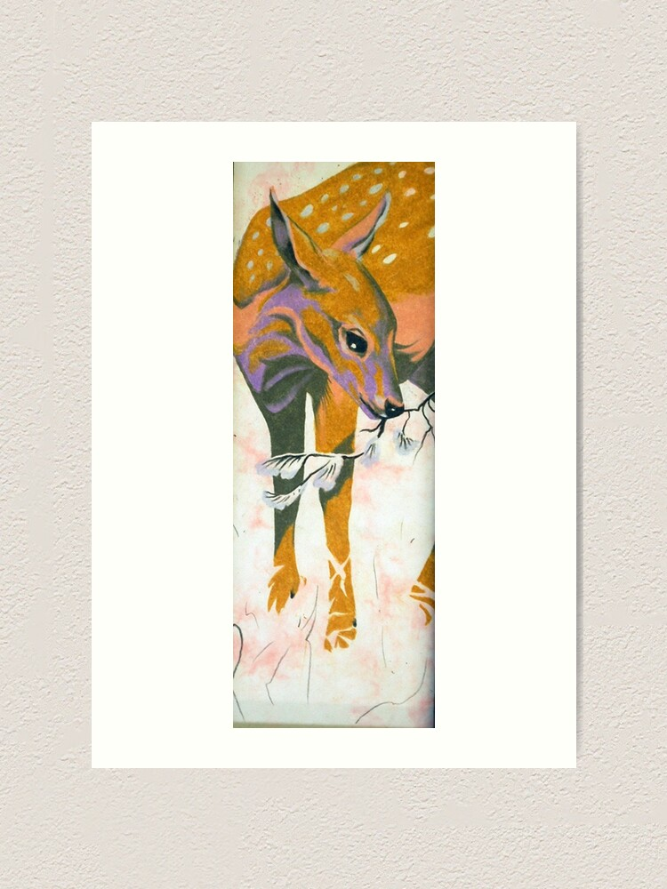 Alternate view of faun, baby deer Art Print