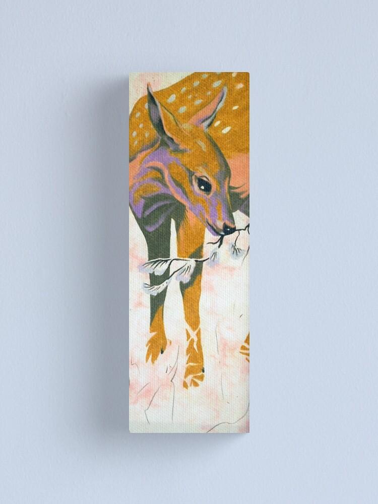 Alternate view of faun, baby deer Canvas Print