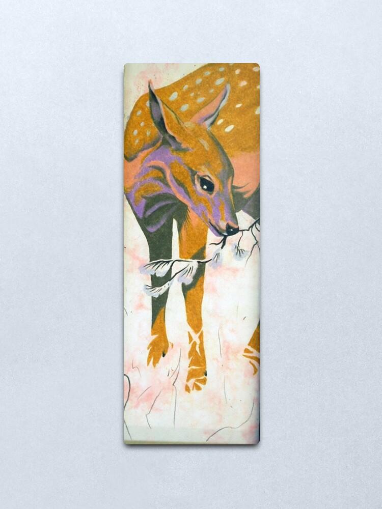 Alternate view of faun, baby deer Metal Print