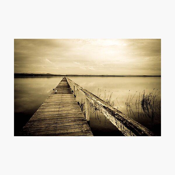 moody, mono jetty Photographic Print