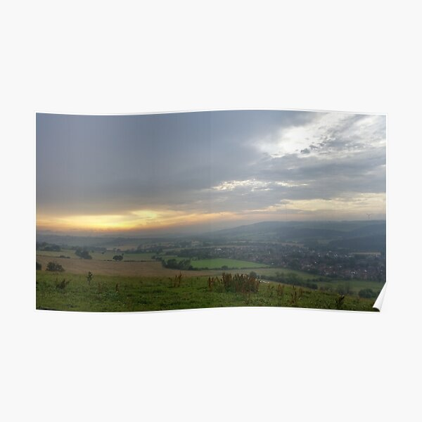 Sunset over the Valley Poster