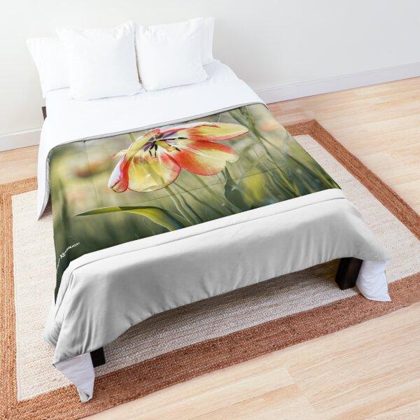 An umbrella flower Comforter
