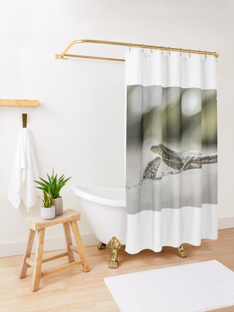 Alternate view of The charming lizards Shower Curtain