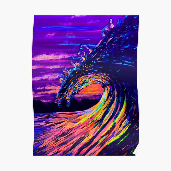 Let the waves hold you Poster