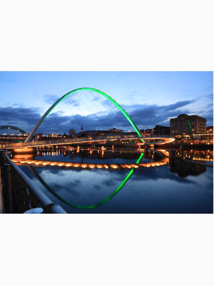 Gateshead Millennium Bridge, Reflections by robcole
