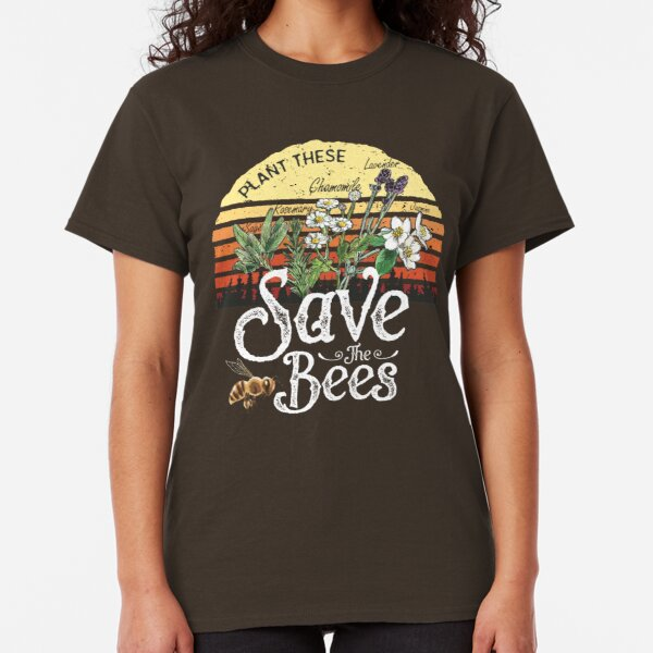 Vintage Plant These Save The Bees T-shirt Gift  Classic T-Shirt