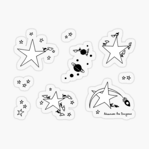 Space Cows in Space Star Sticker Pack Transparent Sticker