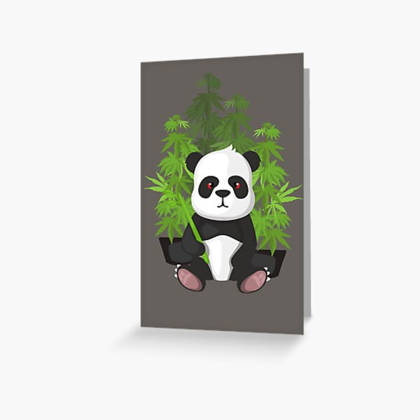 High panda Greeting Card