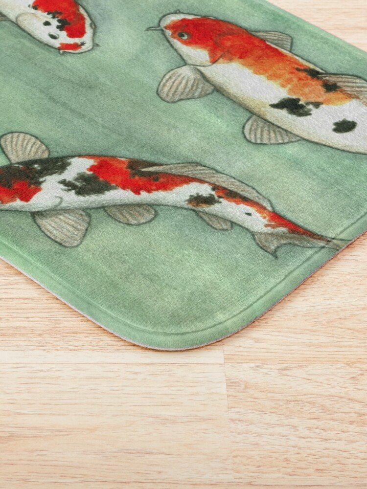 Alternate view of La ronde des carpes koi Bath Mat