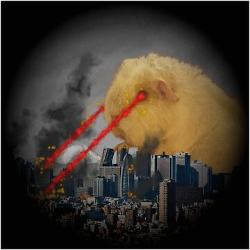 Guinea Pig Attacking Tokyo with Laser Eyes by GuyWithRedHair