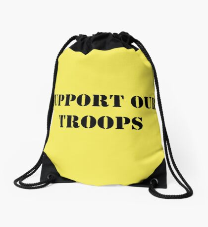 Support Our Troops - July 4th - U.S. Military Drawstring Bag