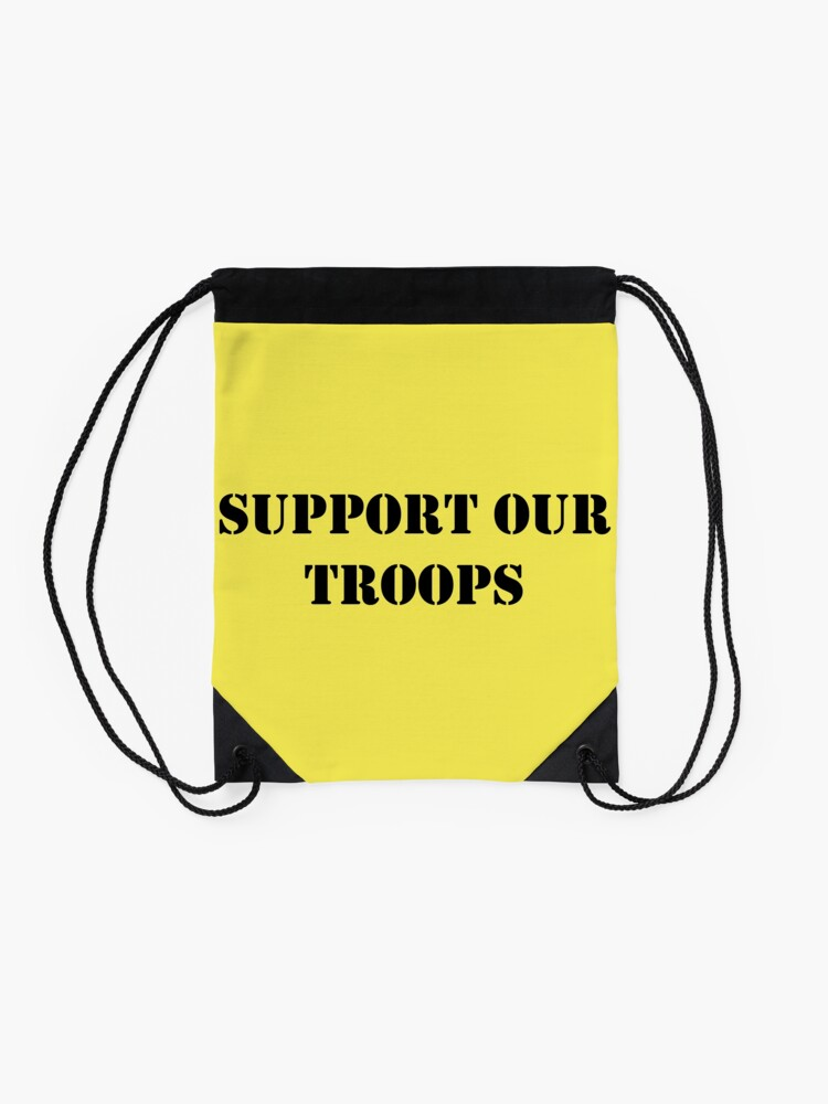 Alternate view of Support Our Troops - July 4th - U.S. Military Drawstring Bag
