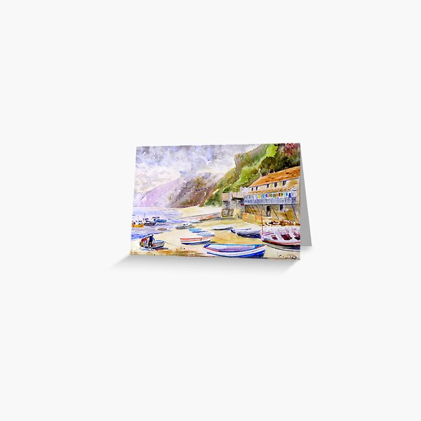 Clovelly Harbour, Devon Greeting Card