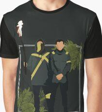 verlasse die Stadt Grafik T-Shirt
