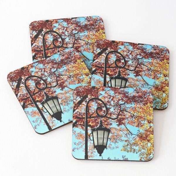 Wellesley Lamppost in Autumn Coasters (Set of 4)