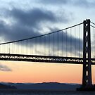 Bay Bridge at Sunset by CherylBee
