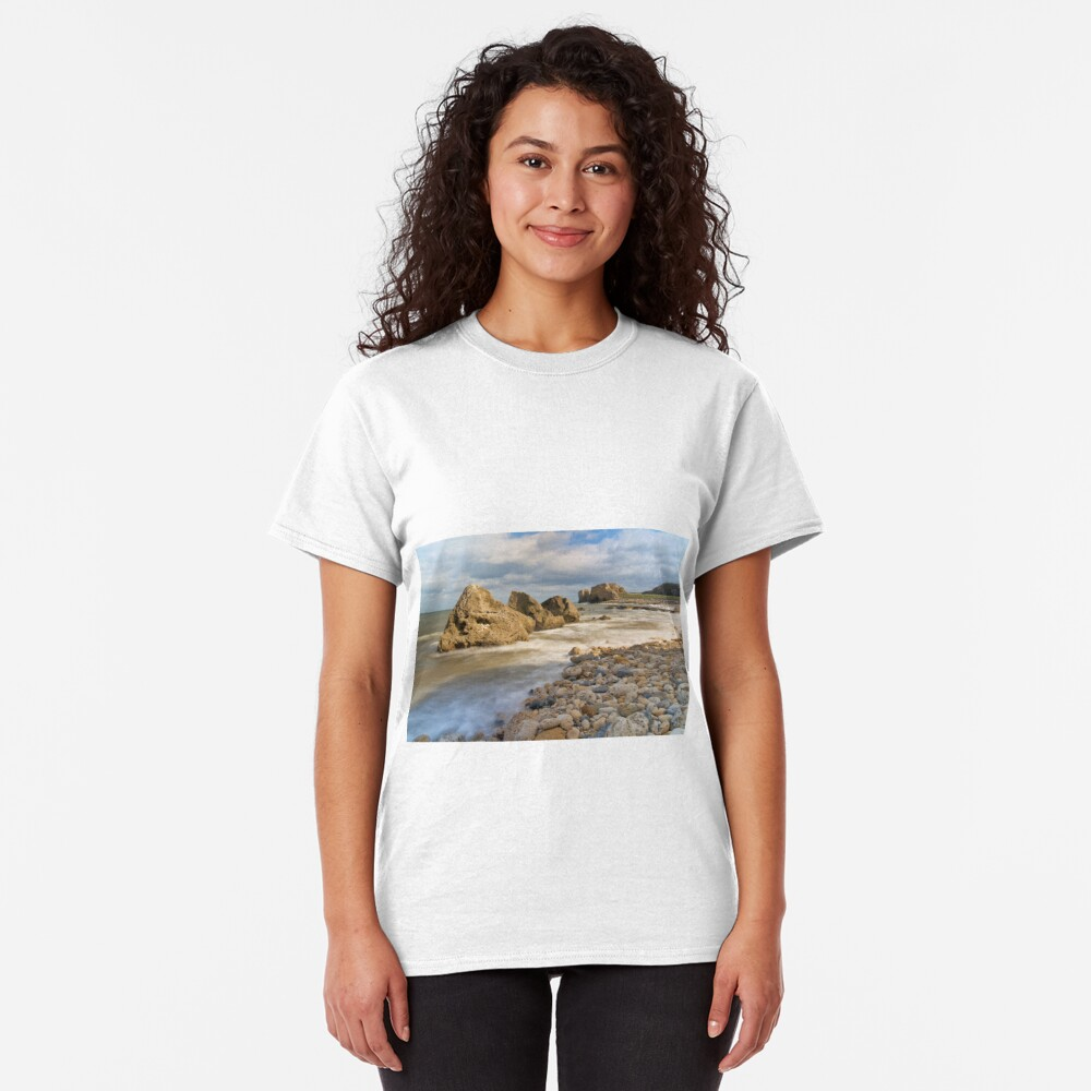 Incoming Tide at Trow Quarry Beach, South Shields, Tyne and Wear Classic T-Shirt
