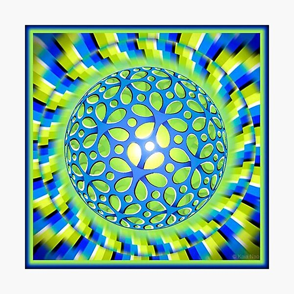 Scintillating #Illusion: #Psychedelic #Orb Appears to #Rotate Photographic Print