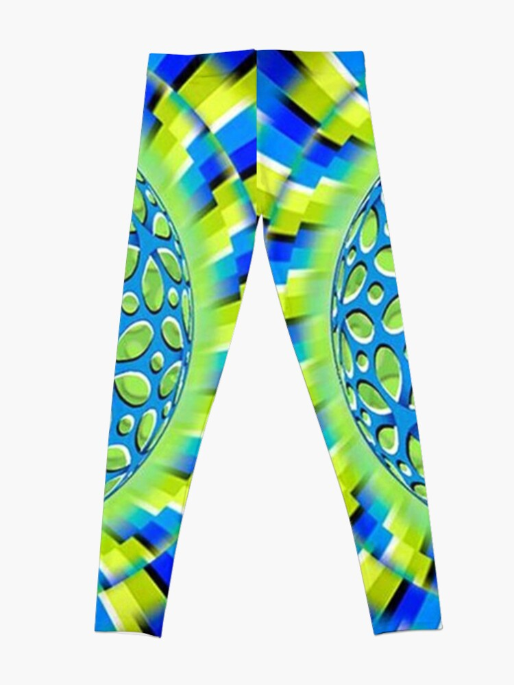 Alternate view of Scintillating #Illusion: #Psychedelic #Orb Appears to #Rotate Leggings