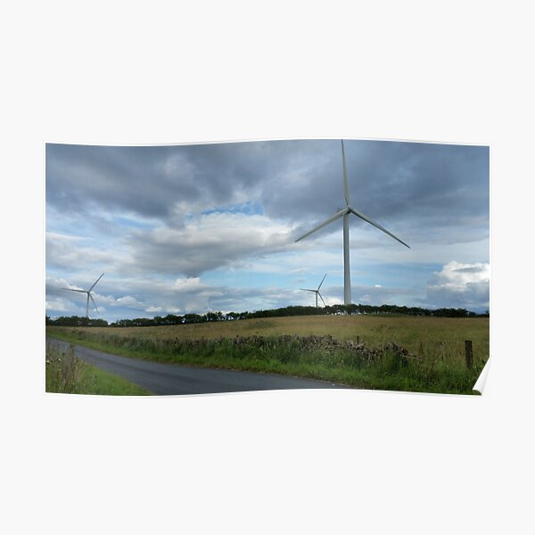 Wind Turbines in a Field Poster