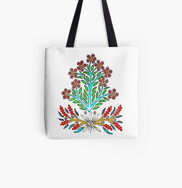 Maximum Summer Flowers All Over Print Tote Bag