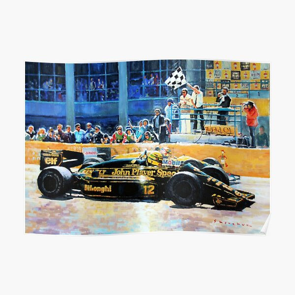 1986 Spanish GP F1 Senna vs Mansell  Poster