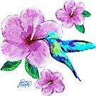 Kolibri & Blumen von Jan Marvin
