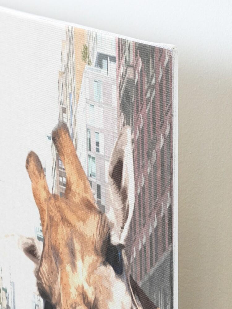 Alternate view of Selfie Giraffe in New York Mounted Print