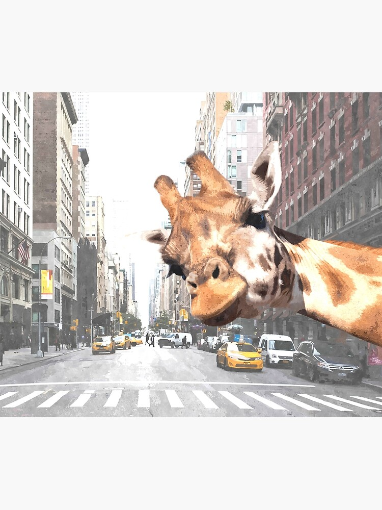 Selfie Giraffe in New York by Alemi