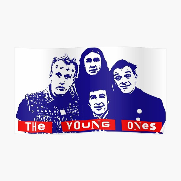 Rik Mayall Colour Door Poster As Devil The Young ones