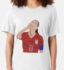 Alex Morgan USWNT Tea Slim Fit T-Shirt