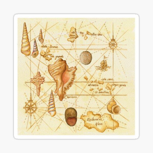 Sea with Shells Sticker