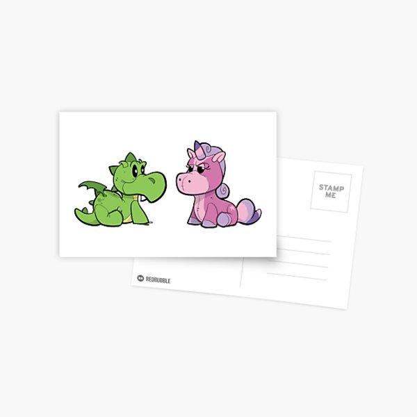 Dragon and Unicorn Postcard