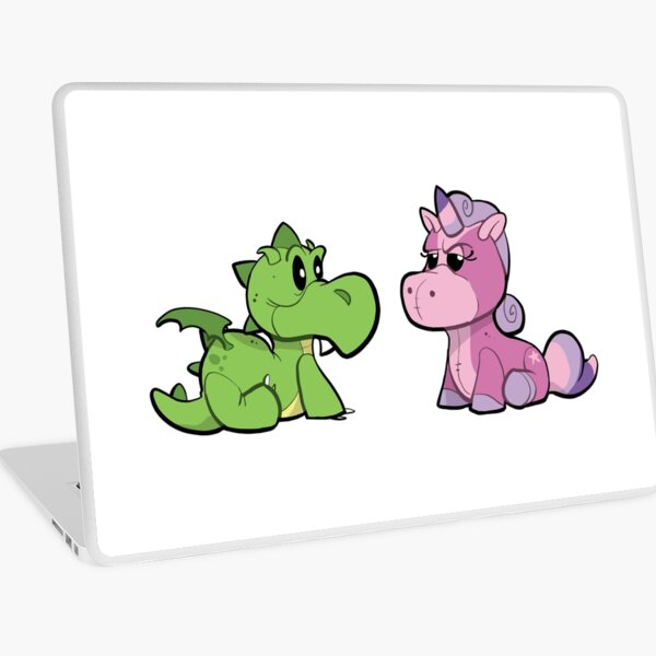 Dragon and Unicorn Laptop Skin