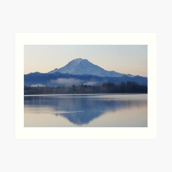 Mt. Rainier in the Morning Art Print