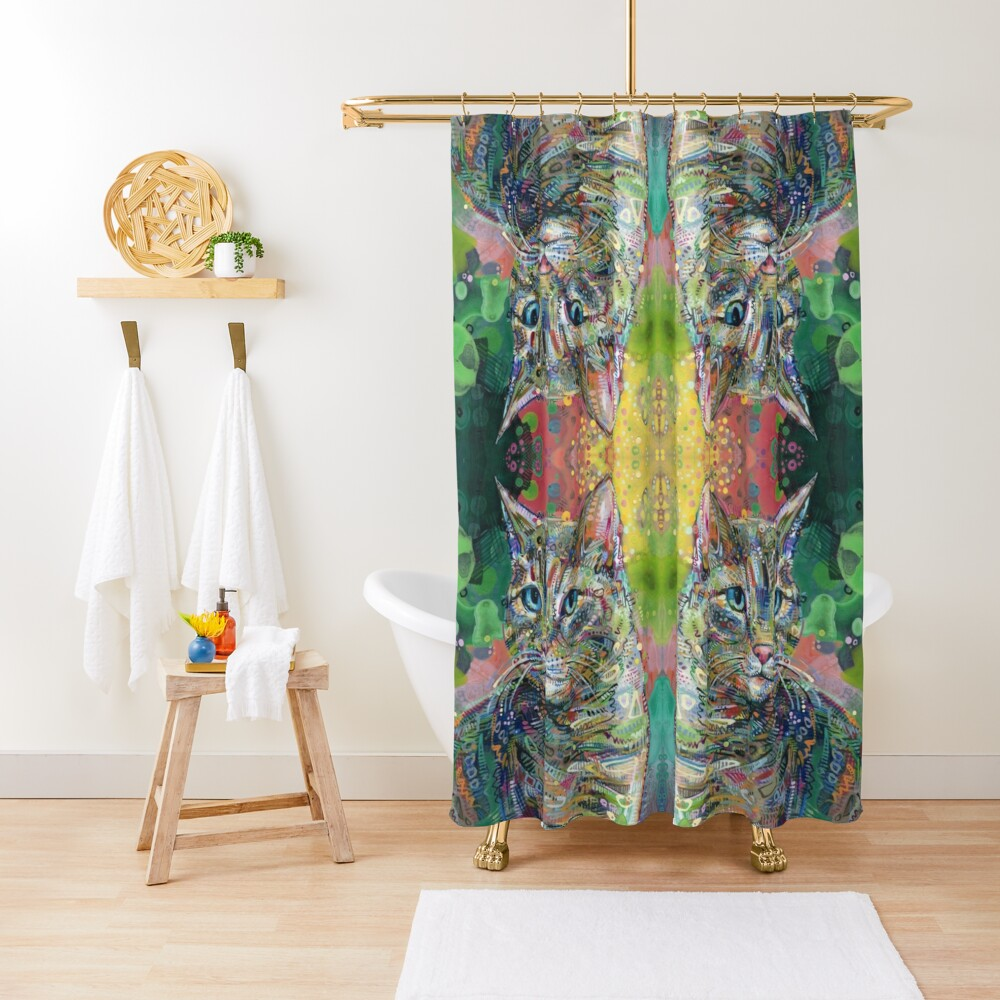 Cat painting - 2011 Shower Curtain